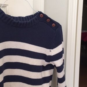 Cotton striped button detailing sweater size 7